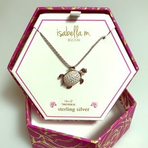 Isabella M Jeweled Turtle Necklace 16""